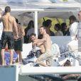 Exclusif - Alicia Vikander et son compagnon Michael Fassbender lors d'une fête pré-mariage avec la famille et les amis à Ibiza, Espagne, le 13 octobre 2017.