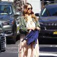 Exclusif - Jessica Alba enceinte fête en famille l'anniversaire de sa mère Catherine Jensen au Warehouse à Marina Del Rey. Le 8 octobre 2017.