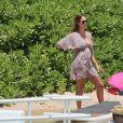 Exclusif - Jessica Alba, enceinte, en vacances avec son mari Cash Warren et leurs enfants Honor et Haven à Lahaina. Hawaï, le 17 juillet 2017.