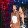 Derek Hough et sa compagne Hayley Erbert arrivent à la soirée Casamigos Tequila pour Halloween à Los Angeles, le 27 octobre 2017