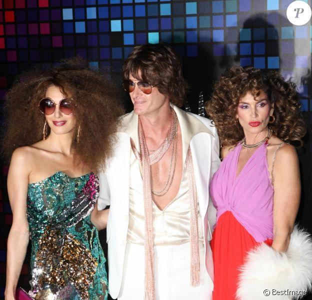 Amal Clooney, Rande Gerber et sa femme Cindy Crawford à la soirée Casamigos Tequila pour Halloween à Los Angeles, le 27 octobre 2017
