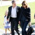 Nicolas Sarkozy, sa femme Carla Bruni et leur fille Giulia à la sortie ont visité le musée de l'Acropole à Athènes. Le 24 octobre 2017 © Aristidis Vafeiadakis / Zuma Press / Bestimage