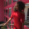 Alicia Aylies (Miss France 2017) en Guyane, le 29 octobre 2017.
