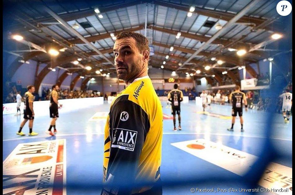 Slavisa Dukanovic, gardien du Pays d'Aix Université Club Handball, victime d'un accident cardiaque après un entraînement le 30 octobre 2017.
