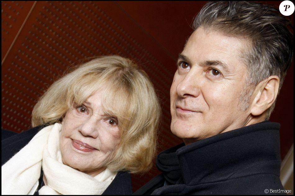 Etienne Daho et Jeanne Moreau à Paris, le 16 novembre 2010.