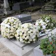 La tombe de Jeanne Moreau au cimetière Montmartre à Paris, le 8 août 2017.