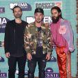 Tomo Milicevic, Shannon Leto et Jared Leto (Thirty Seconds to Mars) aux MTV Europe Music Awards 2017 à la SSE Arena. Londres, le 12 novembre 2017.