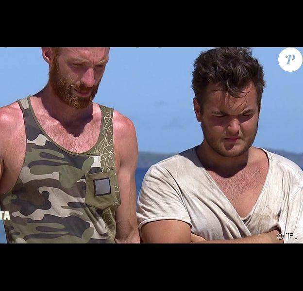 """Maxime et André dans """"Koh-Lanta Fidji) (TF1), épisode diffusé vendredi 17 novembre 2017."""