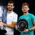 Grigor Dimitrov a remporté un tournoi de tennis du Grand Chelem, le Masters de Londres contre David Goffin, le 19 novembre 2017.