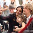 """Brawley Nolte accompagné de sa femme Navi Rawat et leur fille - L'acteur americain Nick Nolte reçoit son étoile sur le """"Walk of Fame"""" à Hollywood le 20 novembre 2017."""