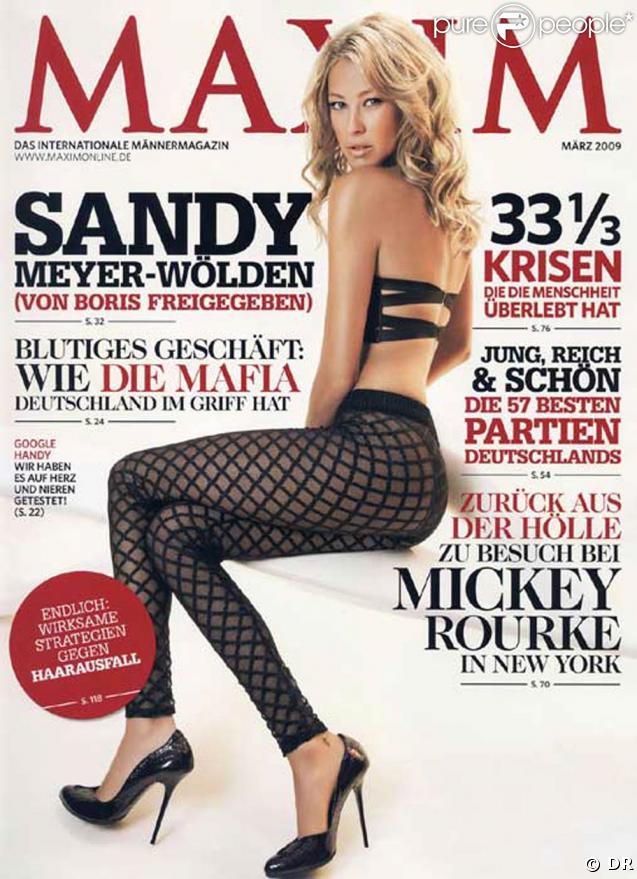 Sandy Meyer-Wölden dans  Maxim  Allemagne