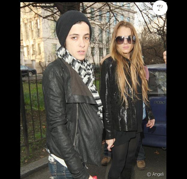 Lindsay Lohan et Samantha Ronson en balade à Londres le 27 février 2009