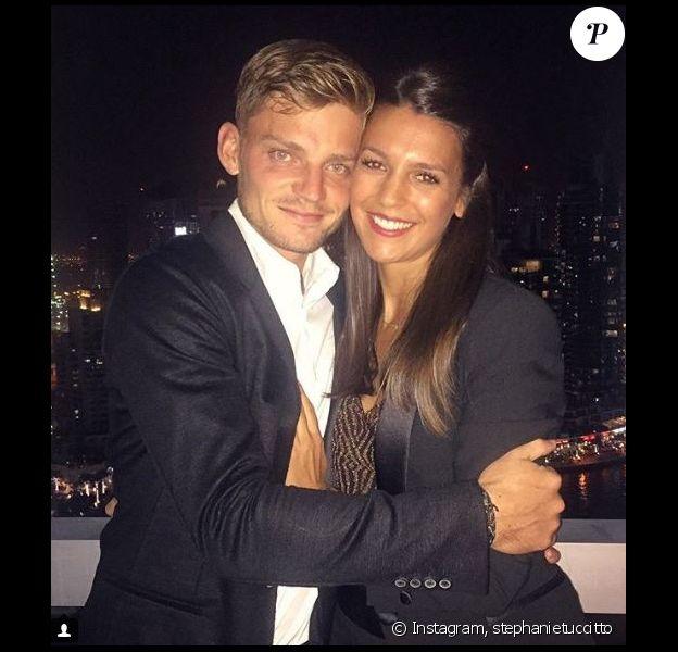 David Goffin et sa compagne Stéphanie Tuccitto sur Instagram, le 24 décembre 2016.