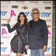 Flavio Briatore et sa femme Elisabetta Gregoraci, à Milan lors de la Fashion Week ce week-end.