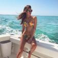 Iris Mittenaere en bikini, le 12 août 2017.