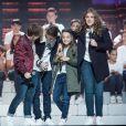 """Exclusif - Amandine, Evan, Angelina et Cassidy - Enregistrement de l'émission """"Les Enfoirés Kids"""" au Zénith d'Aix, qui sera diffusée le 1er décembre sur TF1. Le 19 novembre 2017 © Cyril Moreau / Bestimage"""