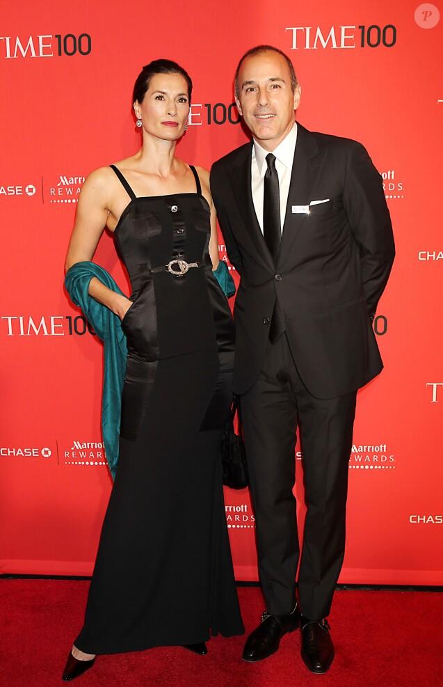 Matt Lauer et sa femme Annette Roque à New York en avril 2012 au gala pour le numéro spécial du magazine TIME sur les 100 personnalités les plus influentes. ©JGM, /PCN/ABACAPRESS.COM