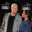 Le chanteur français M. Pokora (Matt Pokora) et sa compagne la chanteuse américaine Christina Milian - 19ème édition des NRJ Music Awards à Cannes le 4 novembre 2017. © Dominique Jacovides/Bestimage
