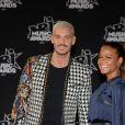 Le chanteur français M. Pokora (Matt Pokora) et sa compagne la chanteuse américaine Christina Milian - 19ème édition des NRJ Music Awards à Cannes le 4 novembre 2017. © Rachid Bellak/Bestimage