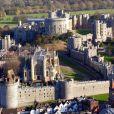 Vue aérienne du château de Windsor et de la chapelle St George, le 30 novembre 2017, où le prince Harry et Meghan Markle célébreront leur mariage en mai 2018.