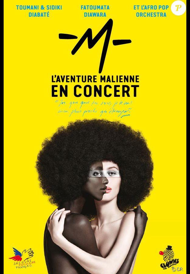 M chantera pour le Secours populaire français et Clowns dans frontière pour la dernière date de sa tournée à l'AccorHotels Arena, le mardi 19 décembre 2017 à Paris.