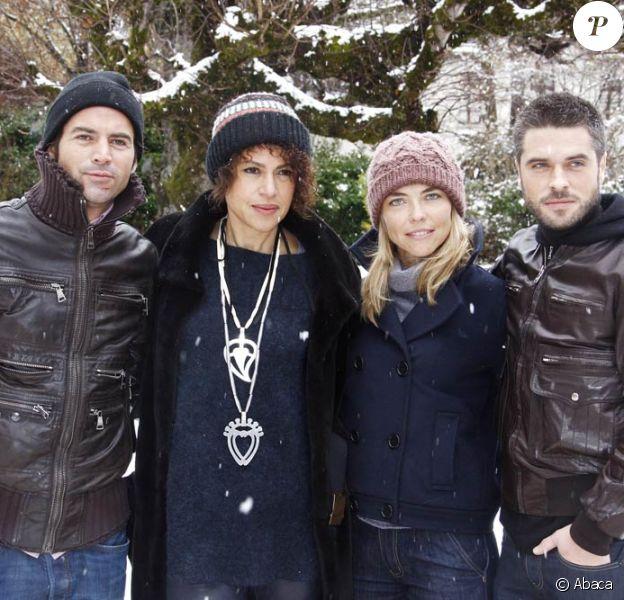Filip Nikolic, Viktor Lazlo, Nathalie Vincent et Anthony Dupray, membres de la Brigade Navarro.