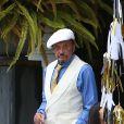 Exclusif - Johnny Hallyday habillé en Gatsby le Magnifique le 13 juin 2015 - Los Angeles