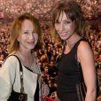 """""""Exclusif - Nathalie Baye et sa fille Laura Smet - People au concert de Johnny Hallyday au POPB de Bercy a Paris - Jour 2. Le 15 juin 2013."""""""
