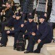 """Baptiste Giabiconi, Sébastien Jondeau et Hudson Kroenig - Défilé Chanel, collection Métiers d'Art """"Chanel à Hambourg"""" à la Philharmonie de l'Elbe. Hambourg, le 6 décembre 2017. © Olivier Borde/Bestimage"""