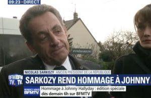 Nicolas Sarkozy et Carla Bruni se recueillent devant le corps de Johnny Hallyday