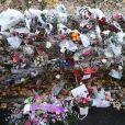 11h18 - Le convoi funéraire de Johnny Hallyday sort du funérarium du Mont-Valérien à Nanterre, le 9 décembre 2017.