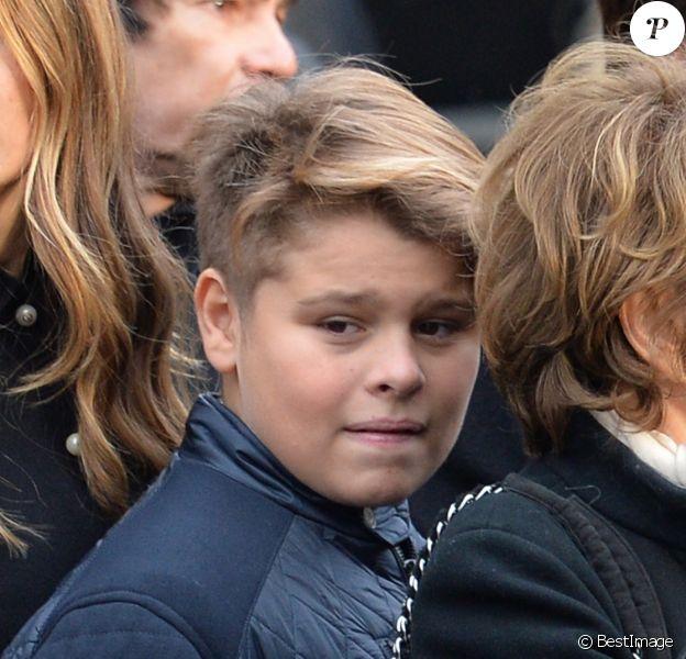 Alexandra Pastor et Cameron Smet - Sorties de l'église de la Madeleine après les obsèques de Johnny Hallyday à Paris le 9 décembre 2017. © Veeren / Bestimage