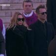 Laura Smet et David Hallyday - Obsèques de Johnny Hallyday en l'église de la Madeleine à Paris. Le 9 décembre 2017.