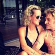 Laeticia et Johnny Hallyday sur Instagram le 7 septembre 2013.
