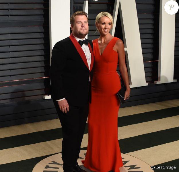 James Corden et sa femme Julia Carey - Vanity Fair Oscar viewing party 2017 au Wallis Annenberg Center for the Performing Arts à Berverly Hills, le 26 février 2017. © Chris Delmas/Bestimage