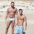 Exclusif - Ricky Martin et son compagnon Jwan Yosef se relaxent sur une plage au Mexique, le 5 décembre 2016