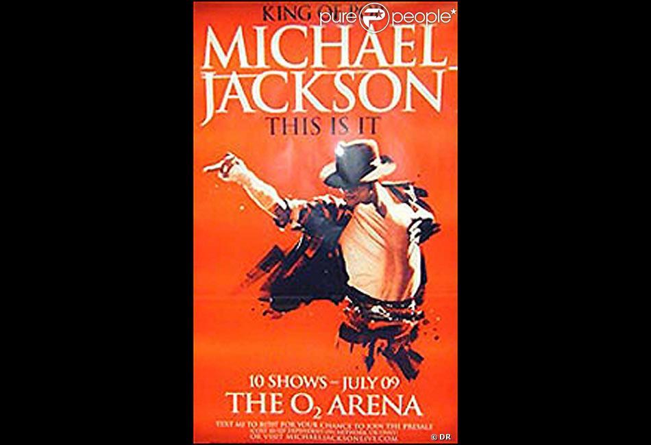 4d729f5865a2e6 Michael Jackson sur l affiche de ses derniers concerts - Purepeople