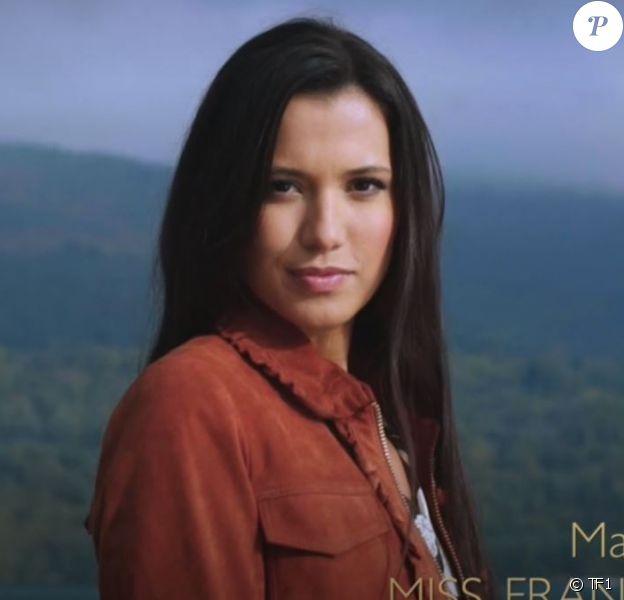 Miss Franche-Comté : Mathilde Klinguer - Concours Miss France 2018. Sur TF1, le 16 décembre 2017.