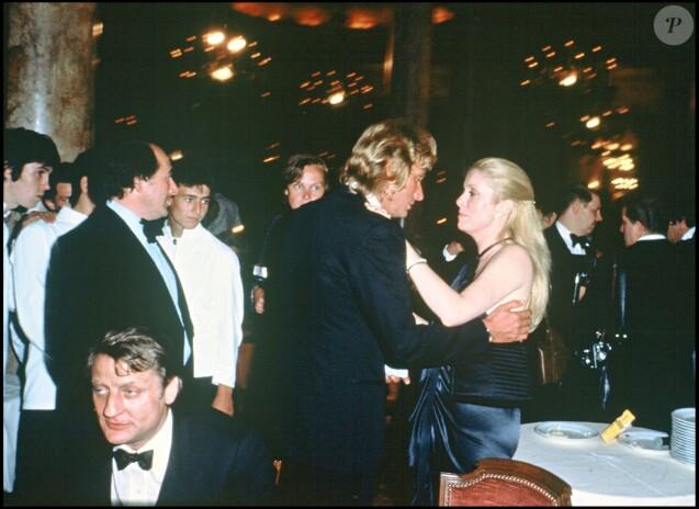 Johnny Hallyday et Catherine Deneuve lors du Festival de Cannes 1979