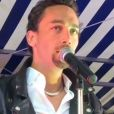 "Johnny Junior, le sosie vocal de Johnny Hallyday, chante ""Diego"" en juillet 2016."