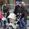 Matt Damon en famille avec sa femme Luciana et ses parents Kent et Nancy.