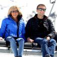 Emmanuel Macron et sa femme Brigitte Macron dans la station de ski Grand Tourmalet (La Mongie / Barèges), France, le 12 avril 2017. © Dominique Jacovides/Bestimage