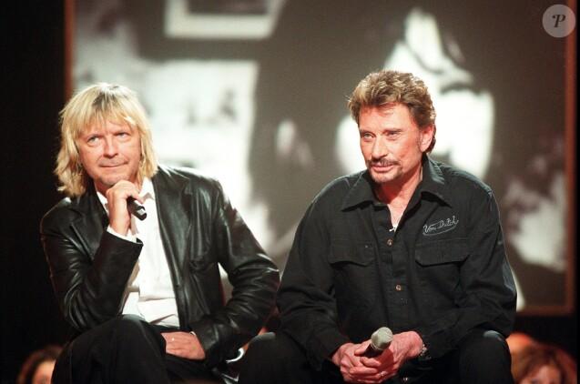 Renaud et Johnny Hallyday en 2003.