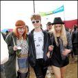 Peaches Geldof et son amie Fifi Brown au festival de Glastonbury le 22/06/2007