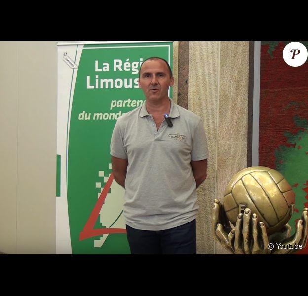 Frédéric Forte, ancien joueur et entraîneur du CSP de Limoges. (capture d'écran)