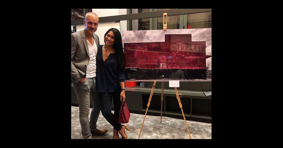 Christian kretschmar et anggun lors d 39 une exposition paris octobre 2017 purepeople - Expo paris octobre 2017 ...