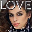 Kaia Gerber en couverture du magazine LOVE. Photo par Mert et Marcus.