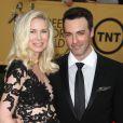 """Reid Scott et sa femme Elspeth enceinte - 21e cérémonie annuelle des """"Screen Actors Guild Awards"""" à l'auditorium """"The Shrine"""" à Los Angeles, le 25 janvier 2015."""