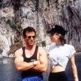Sylvester Stallone et Jennifer Flavin - En vacances sur la Côte d'Azur en 1993