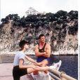 Sylvester Stallone et Jennifer Flavin - Vacances au Cap Ferrat en 1993